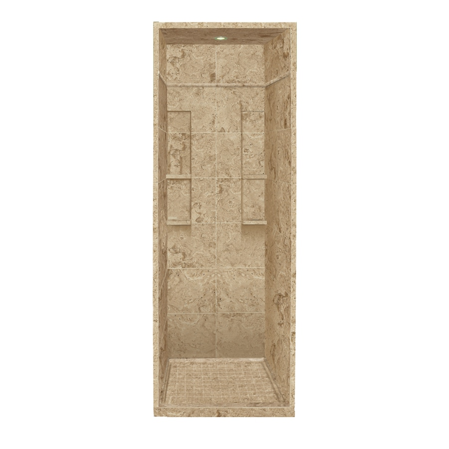 Style Selections Sand Mountain 5-Piece Alcove Shower Kit (Common: 36-in x 36-in; Actual: 95.75-in x 36-in x 36-in)