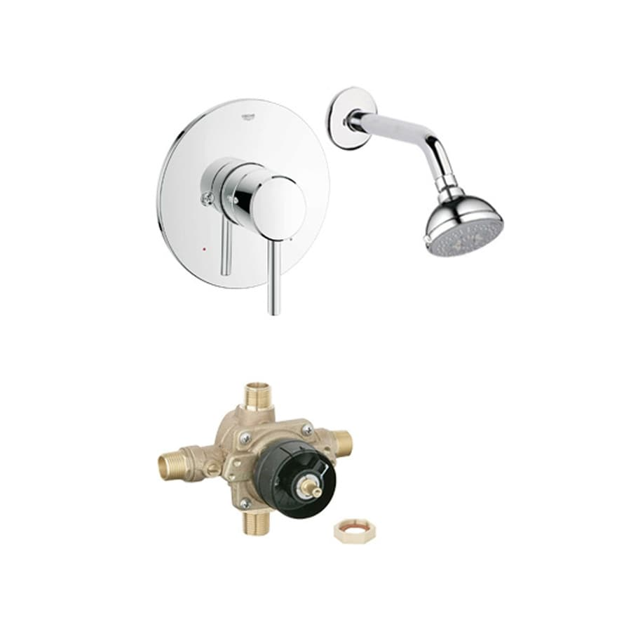 GROHE Concetto Starlight Chrome 1-Handle Shower Faucet with Multi-Function Showerhead