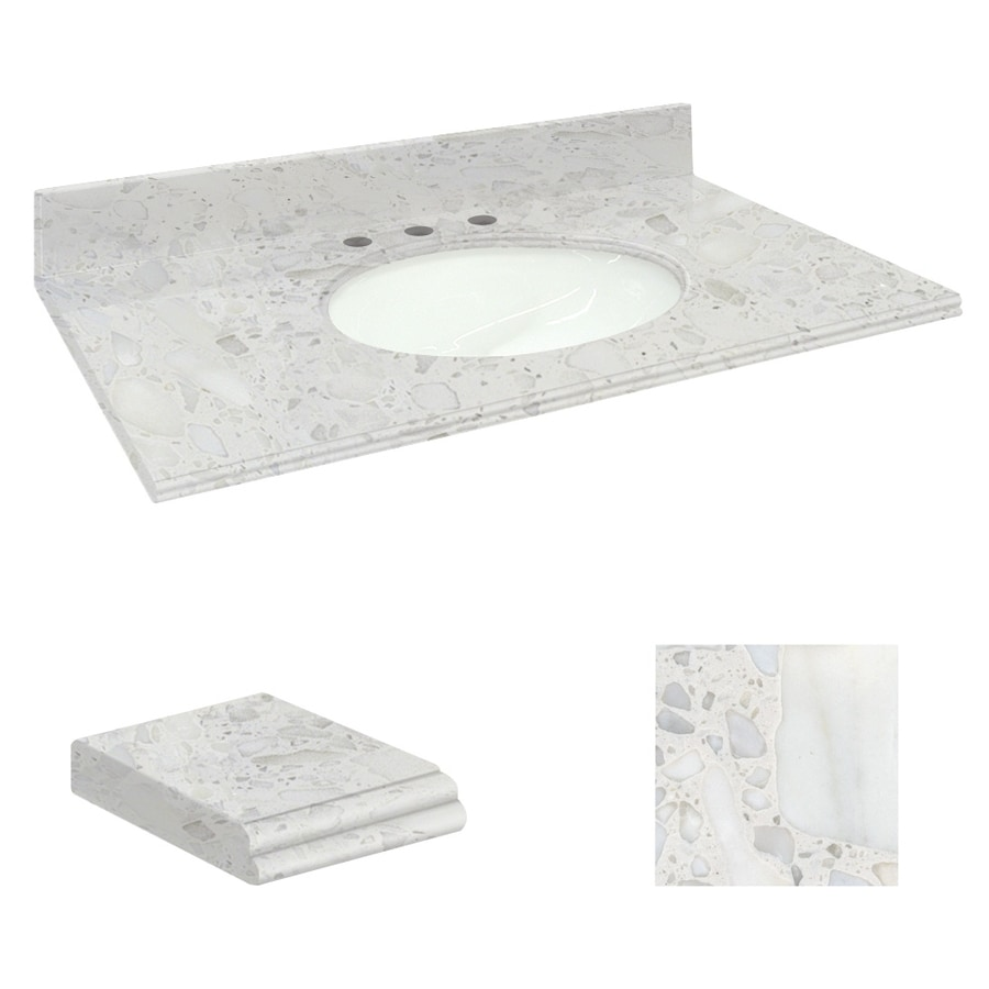 Shop Transolid Crystal Sands Natural Marble Undermount ...