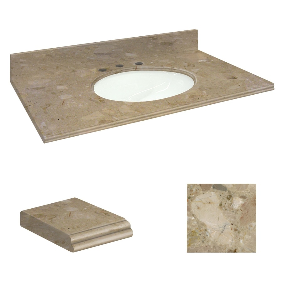 shop transolid java coast natural marble undermount single