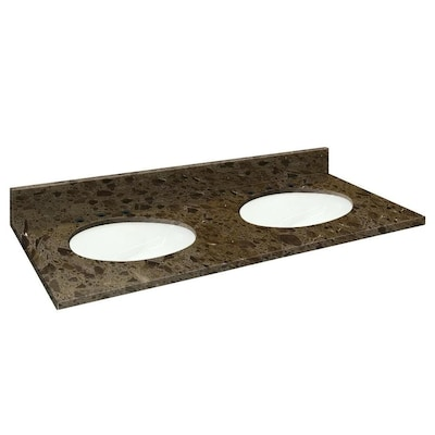Natural marble Double sink Bathroom Vanity Tops at Lowes.com