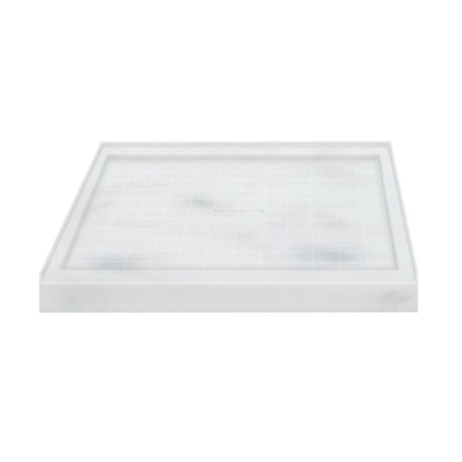 Transolid Storm Solid Surface Shower Base (Common: 36-in W x 36-in L; Actual: 36-in W x 36-in L)
