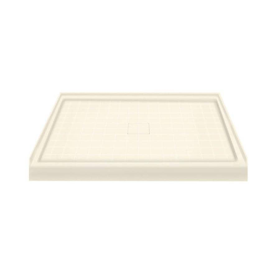 Transolid Cameo Solid Surface Shower Base (Common: 48-in W x 34-in L; Actual: 48-in W x 34-in L) with Center Drain