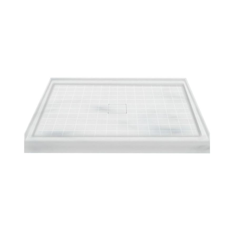 Transolid Storm Solid Surface Shower Base (Common: 48-in W x 34-in L; Actual: 48-in W x 34-in L)