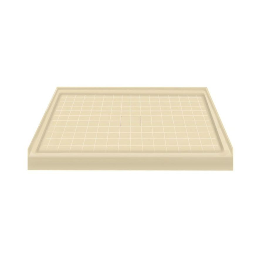 Transolid Almond Solid Surface Shower Base (Common: 48-in W x 34-in L; Actual: 48-in W x 34-in L)