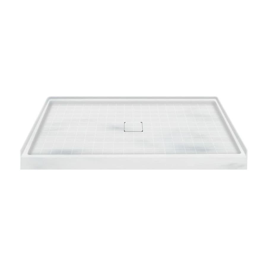 Transolid Storm Solid Surface Shower Base (Common: 60-in W x 36-in L; Actual: 60-in W x 36-in L)
