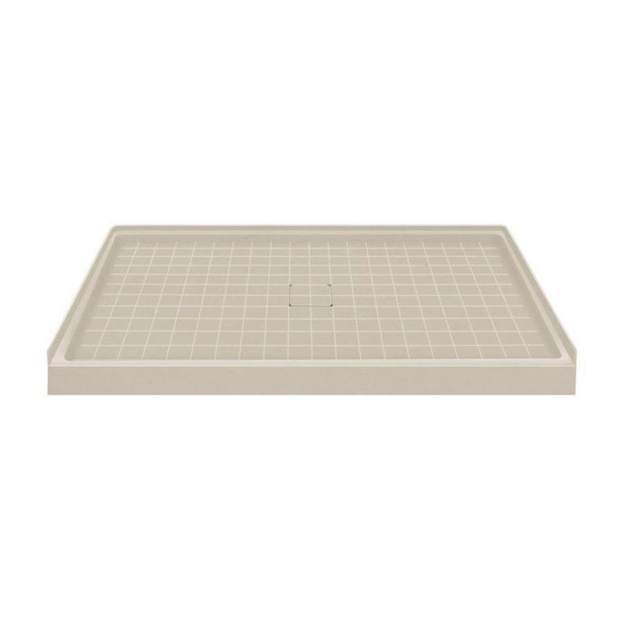 Transolid Sand Solid Surface Shower Base (Common: 60-in W x 36-in L; Actual: 60-in W x 36-in L)