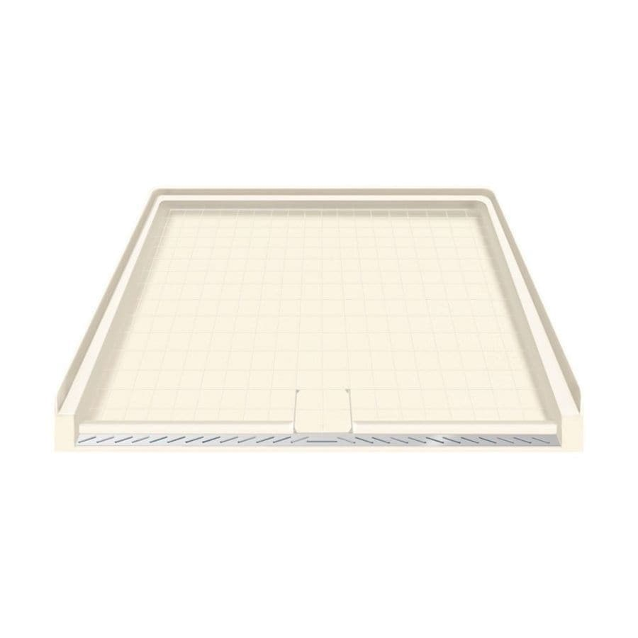 Transolid Cameo Solid Surface Shower Base (Common: 40-in W x 38-in L; Actual: 39.5-in W x 37.75-in L)