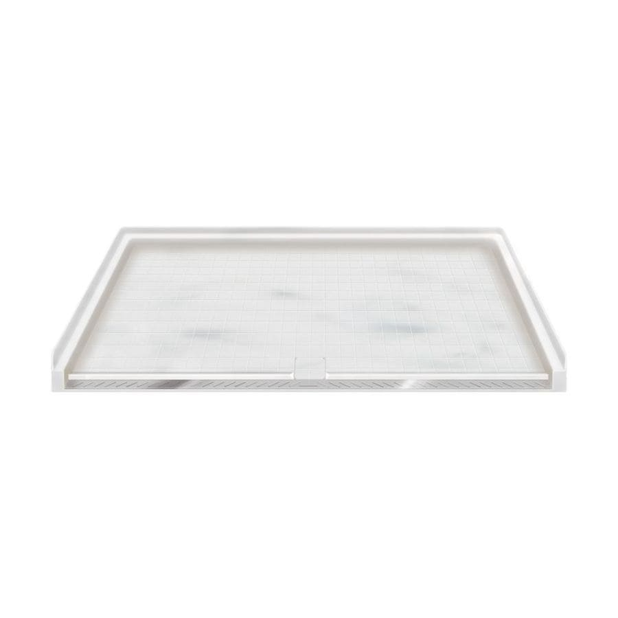 Transolid Storm Solid Surface Shower Base (Common: 64-in W x 38-in L; Actual: 63.5-in W x 37.75-in L)