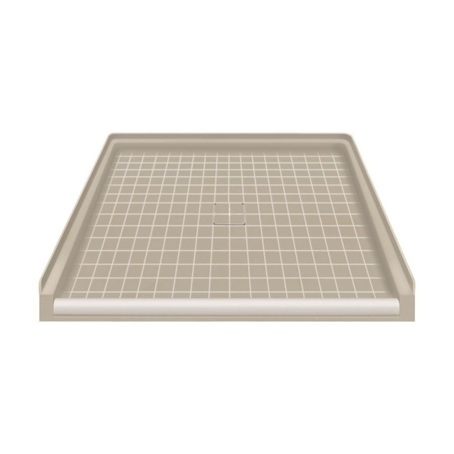 Transolid Sand Solid Surface Shower Base (Common: 40-in W x 38-in L; Actual: 39.5-in W x 37.75-in L)