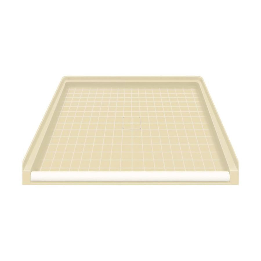 Transolid Almond Solid Surface Shower Base (Common: 40-in W x 38-in L; Actual: 39.5-in W x 37.75-in L)