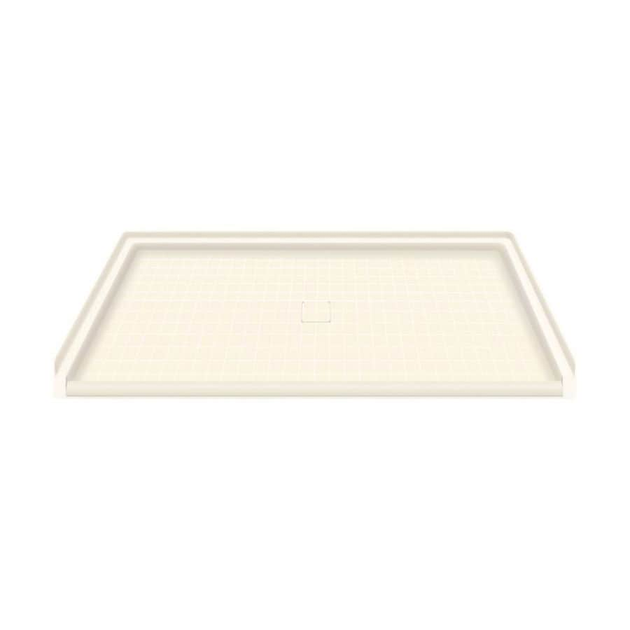 Transolid Cameo Solid Surface Shower Base (Common: 64-in W x 38-in L; Actual: 63.5-in W x 37.75-in L)