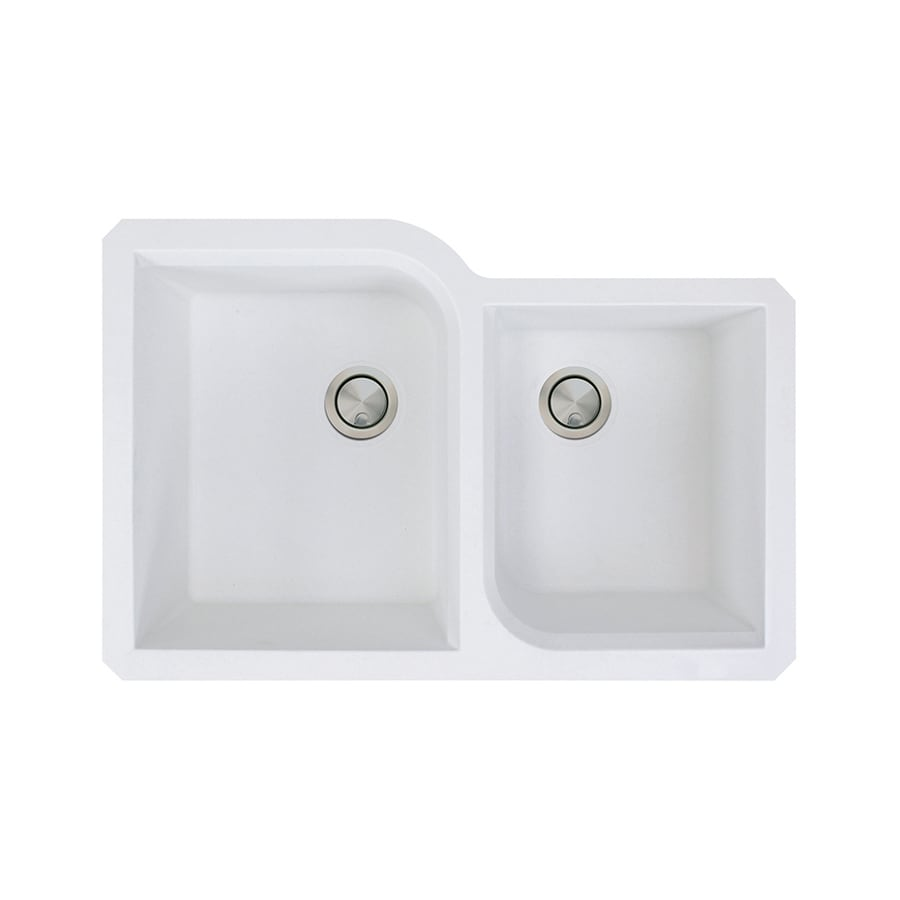 ... Double-Basin Granite Undermount Residential Kitchen Sink at Lowes.com