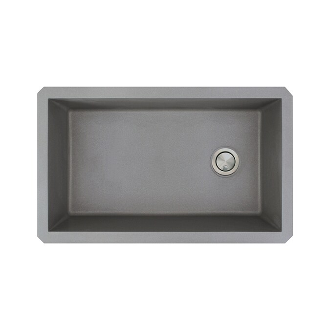 Transolid Radius Undermount 31 75 In X 19 125 In Grey Single Bowl Kitchen Sink In The Kitchen Sinks Department At Lowes Com