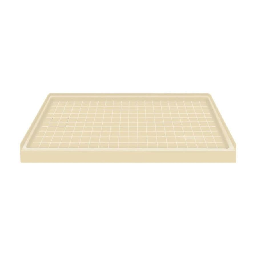 Transolid Almond Solid Surface Shower Base (Common: 60-in W x 30-in L; Actual: 60-in W x 30-in L) with Left Drain