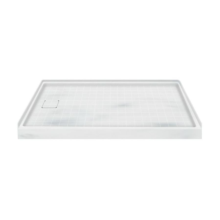 Transolid Storm Solid Surface Shower Base (Common: 60-in W x 30-in L; Actual: 60-in W x 30-in L) with Left Drain
