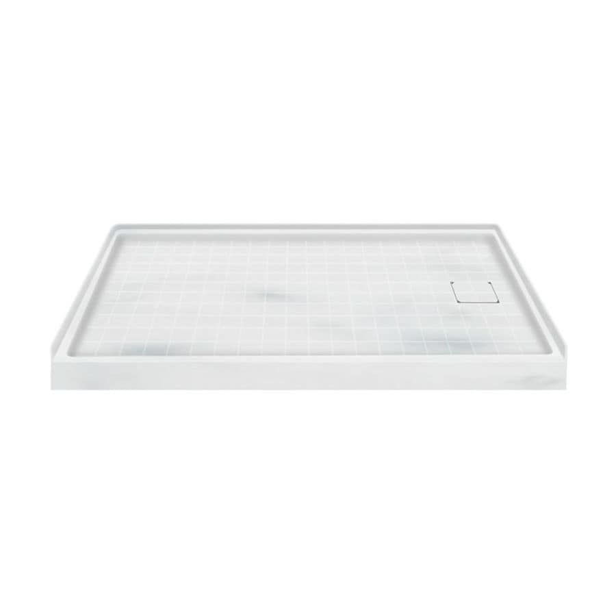 Transolid Storm Solid Surface Shower Base (Common: 60-in W x 30-in L; Actual: 60-in W x 30-in L) with Right Drain