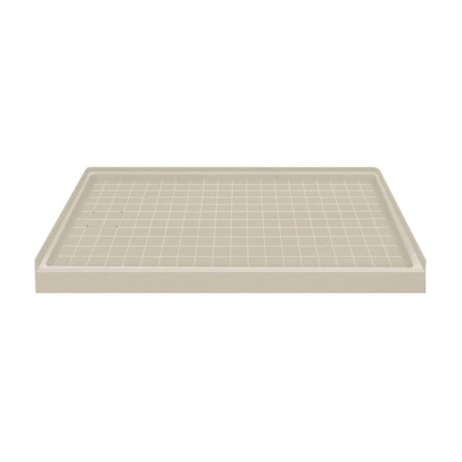 Transolid Sand Solid Surface Shower Base (Common: 60-in W x 32-in L; Actual: 60-in W x 32-in L)