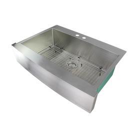 Transolid Diamond 36L x 26W Dual Mount Kitchen Sink