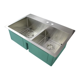 Transolid Radius Drop In 33 In X 22 In Espresso Single Bowl 1 Hole Kitchen Sink All In One Kit In The Kitchen Sinks Department At Lowes Com