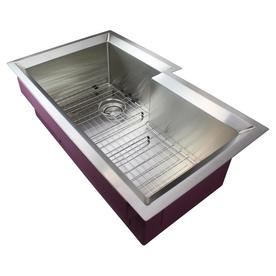 Transolid PUSSO352111 Studio Stainless Steel 35-in Undermount Kitchen Sink Kitchen Sink in Stainless Steel