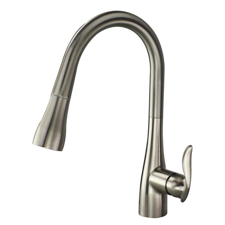 Transolid Arcata Luxe Stainless 1-Handle Deck Mount Pull-down Kitchen Faucet