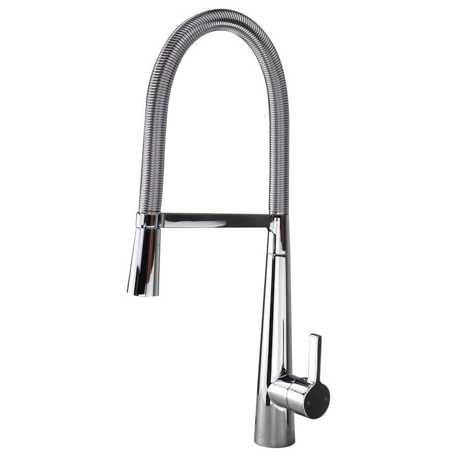 Shop Transolid Trattoria Polished Chrome 1-Handle Deck Mount Pull ...