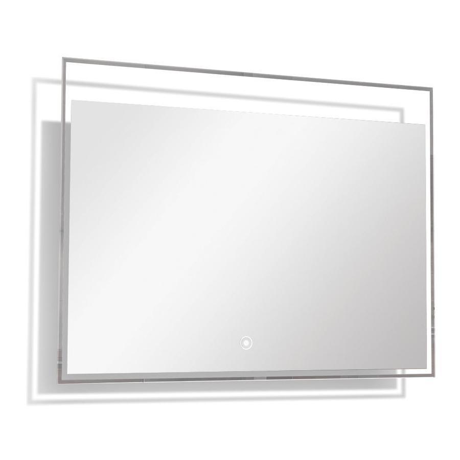 Transolid taylor silver rectangular frameless - Silver bathroom mirror rectangular ...