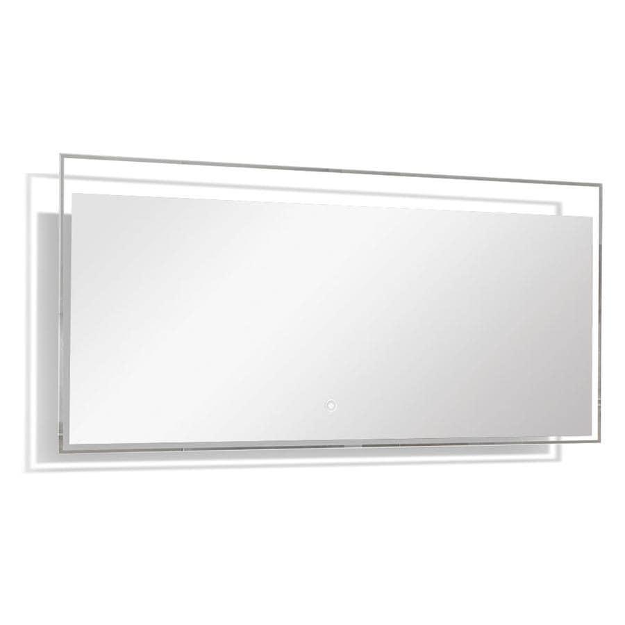 Transolid taylor x silver rectangular - Silver bathroom mirror rectangular ...