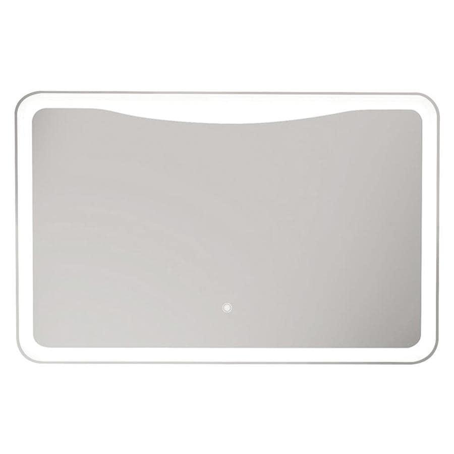 Transolid mason silver rectangular frameless - Silver bathroom mirror rectangular ...