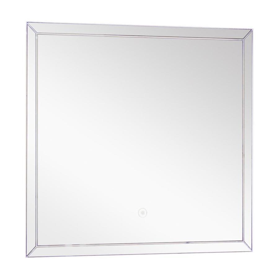 Transolid finn silver rectangular frameless - Silver bathroom mirror rectangular ...