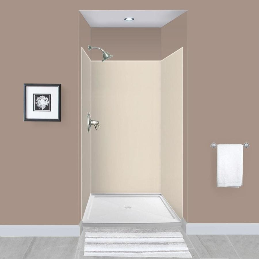 Transolid Expressions Bisque Panel Kit Shower Wall Surround 48 In X 48 In In The Shower Wall Surrounds Department At Lowes Com