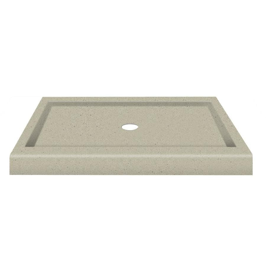 Transolid Peppered Sage Fiberglass and Plastic Composite Shower Base (Common: 32-in W x 48-in L; Actual: 32-in W x 48-in L)
