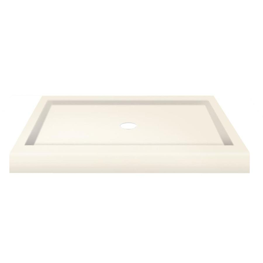 Transolid Cream Fiberglass and Plastic Composite Shower Base (Common: 32-in W x 48-in L; Actual: 32-in W x 48-in L)