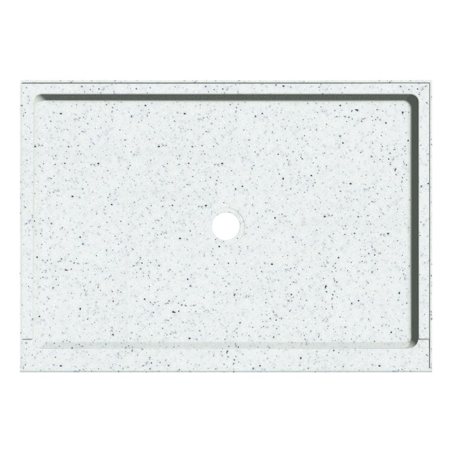 Transolid Matrix Speckled White Fiberglass and Plastic Composite Shower Base (Common: 32-in W x 48-in L; Actual: 32-in W x 48-in L)