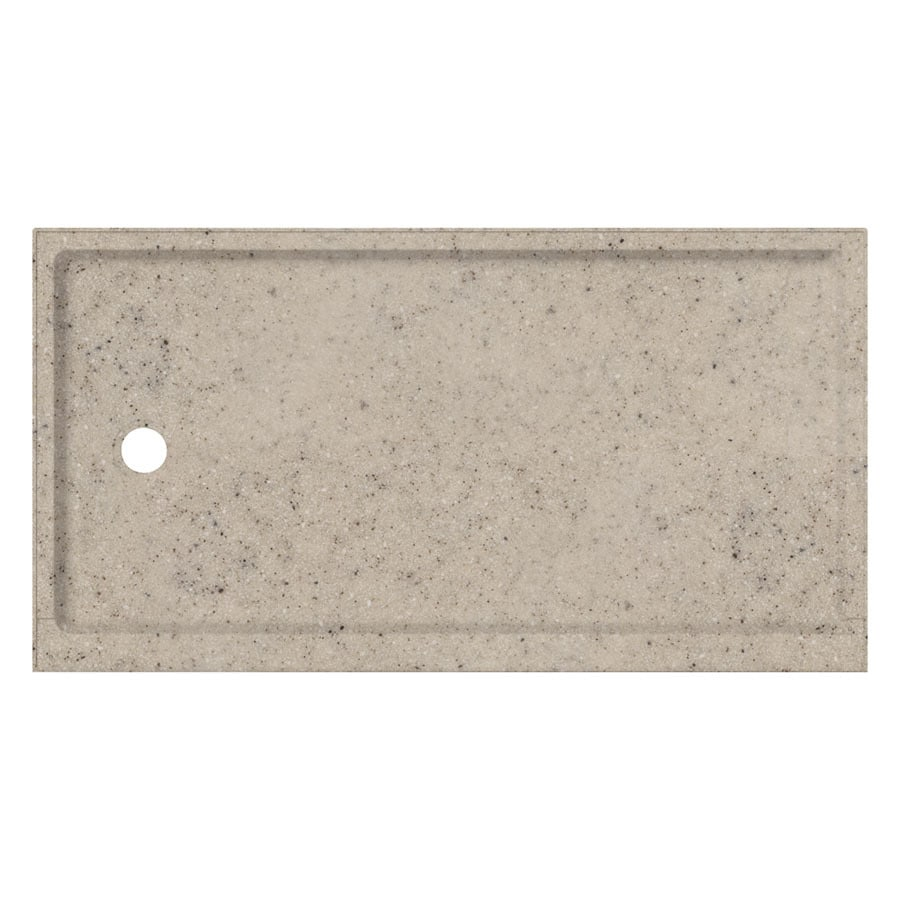 Transolid Desert Earth Fiberglass and Plastic Composite Shower Base (Common: 32-in W x 60-in L; Actual: 32-in W x 60-in L)