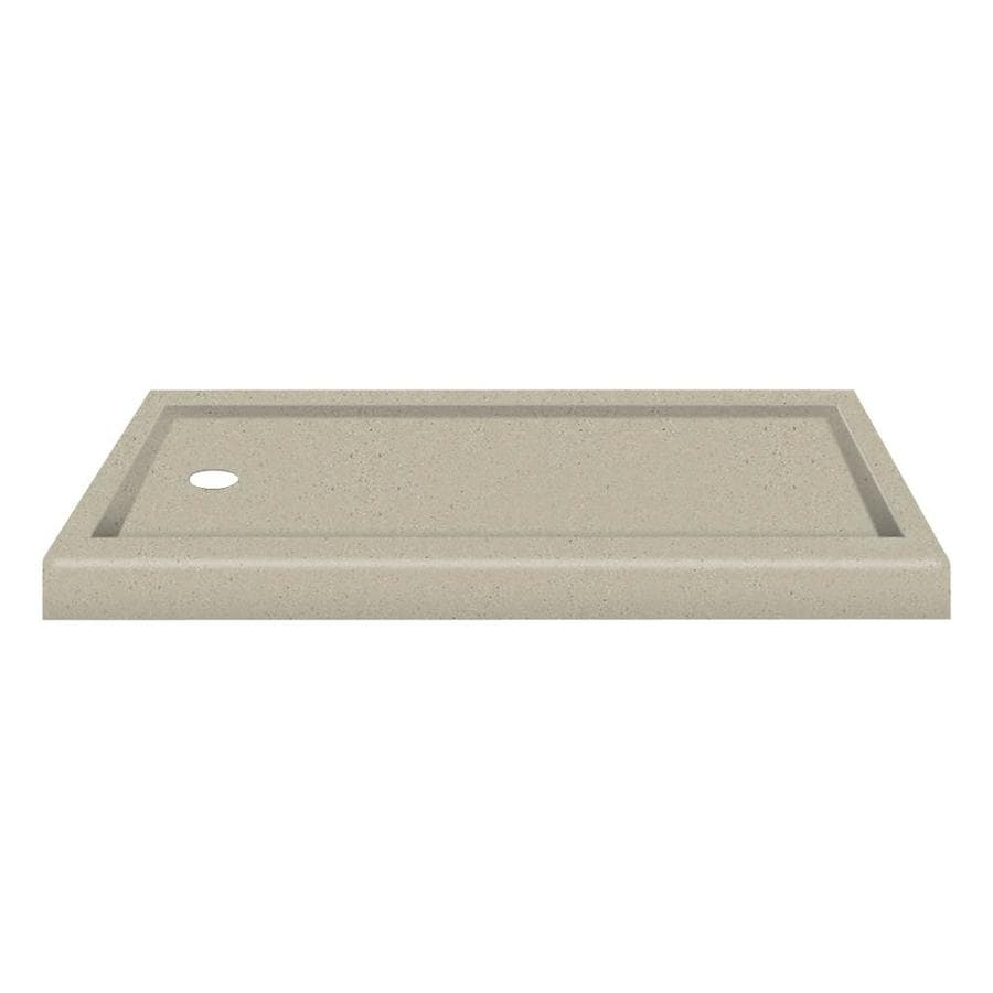 Transolid Decor Peppered Sage Solid Surface Shower Base (Common: 32-in W x 60-in L; Actual: 32-in W x 60-in L)