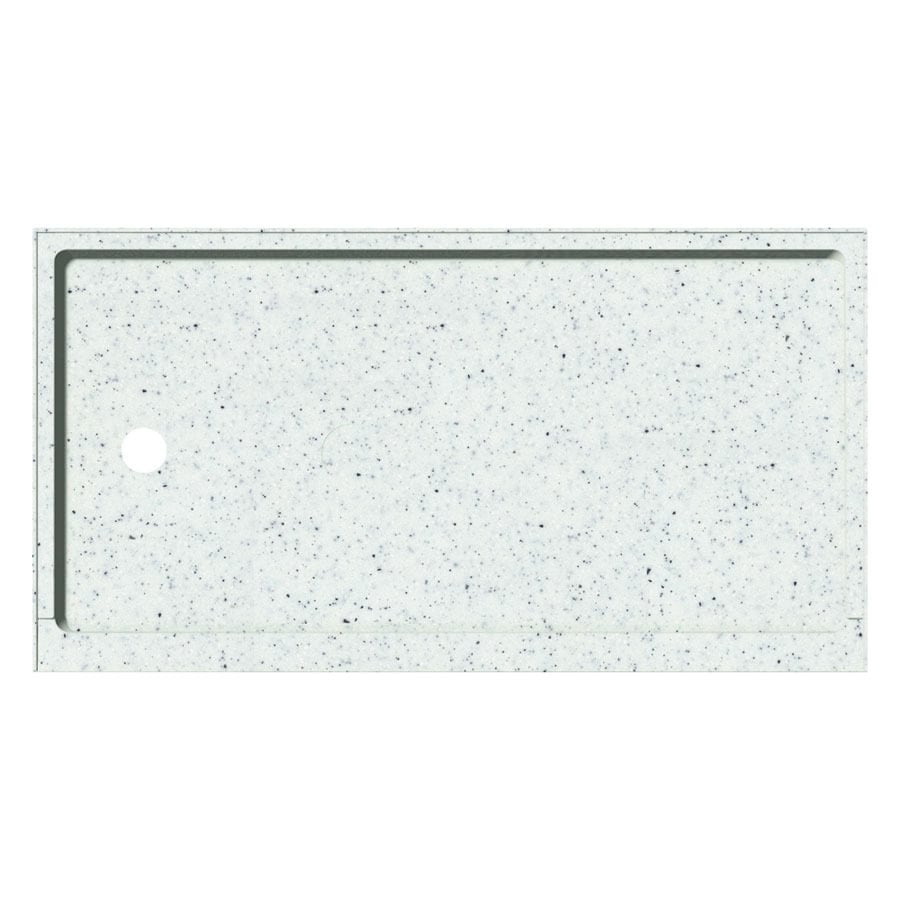 Transolid Matrix Speckled White Fiberglass and Plastic Composite Shower Base (Common: 32-in W x 60-in L; Actual: 32-in W x 60-in L)
