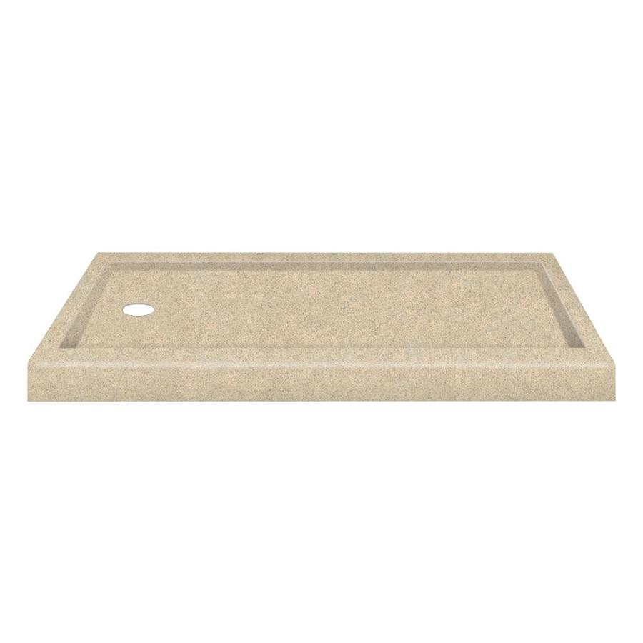 Transolid Decor Matrix Khaki Solid Surface Shower Base (Common: 32-in W x 60-in L; Actual: 32-in W x 60-in L)