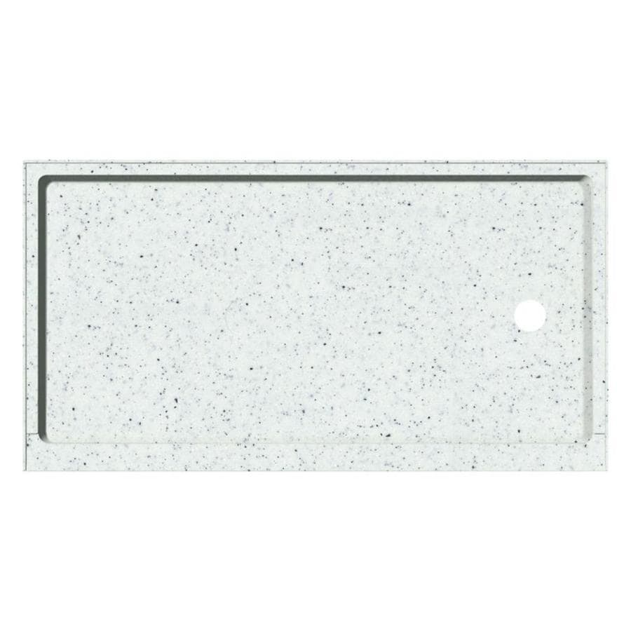 Transolid Decor Matrix White Solid Surface Shower Base (Common: 32-in W x 60-in L; Actual: 32-in W x 60-in L)
