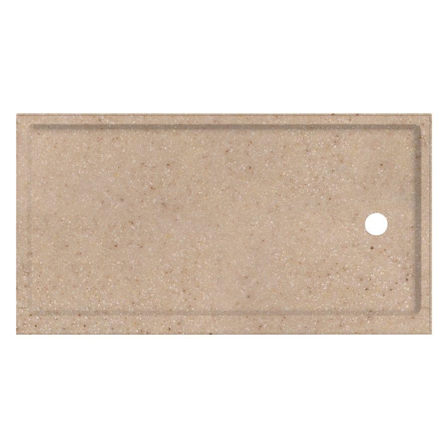 Transolid Sand Castle Fiberglass and Plastic Composite Shower Base (Common: 32-in W x 60-in L; Actual: 32-in W x 60-in L)