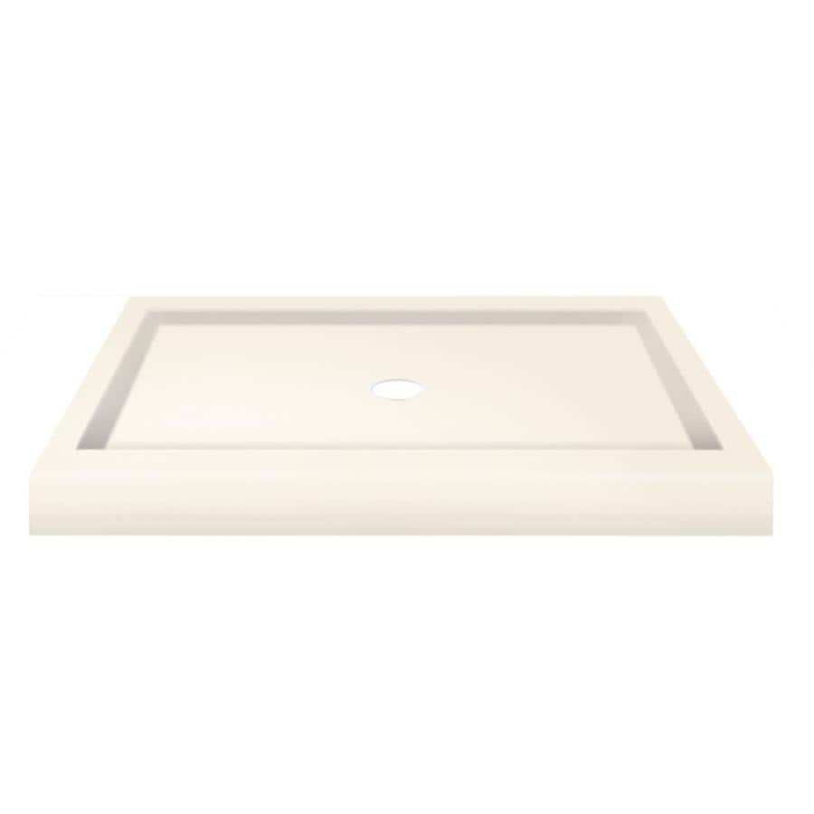 Transolid Decor Cameo Solid Surface Shower Base (Common: 34-in W x 48-in L; Actual: 34-in W x 48-in L)