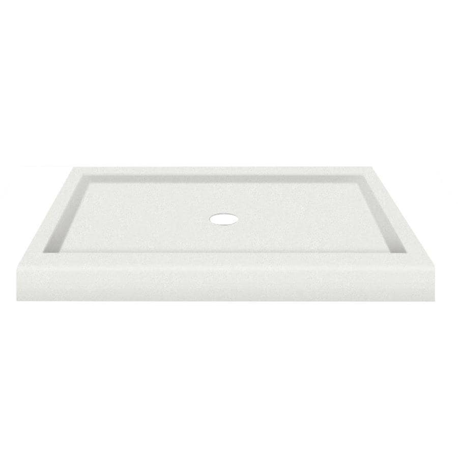 Transolid Matrix Speckled White Fiberglass and Plastic Composite Shower Base (Common: 34-in W x 48-in L; Actual: 34-in W x 48-in L)