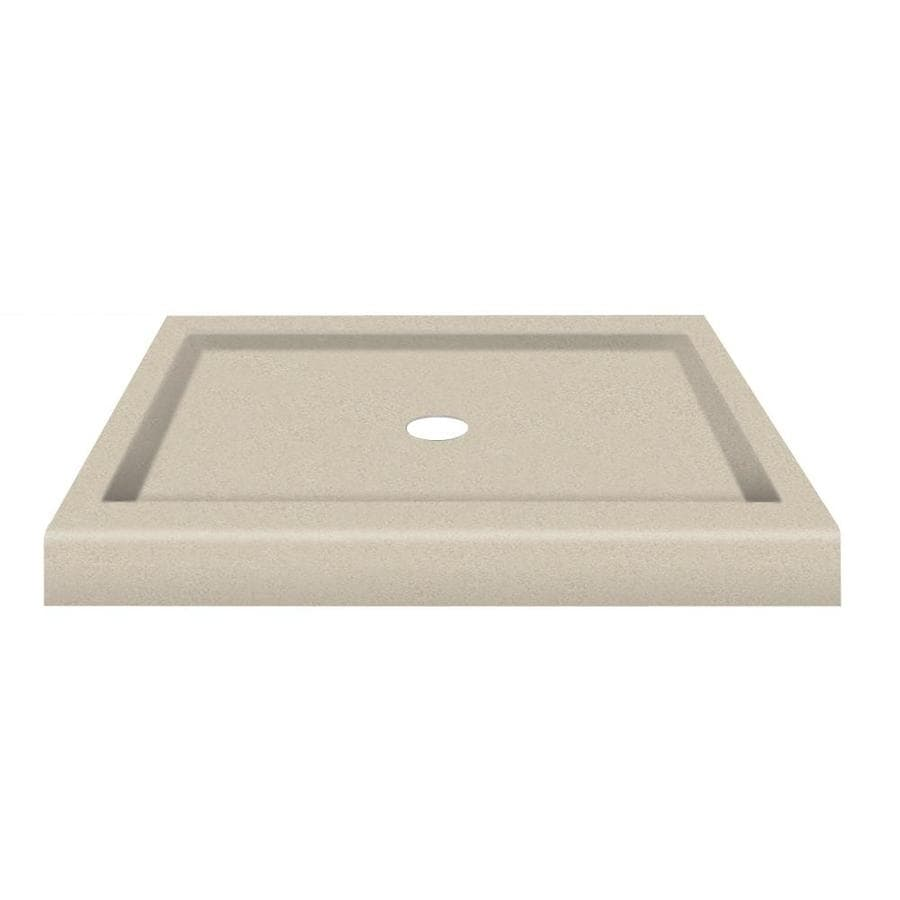 Transolid Decor Solid Surface Composite Corner Shower Base