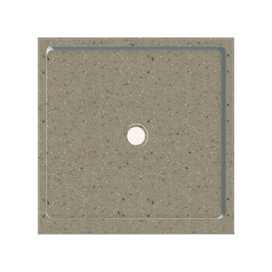 Transolid Peppered Sage Fiberglass and Plastic Composite Shower Base (Common: 36-in W x 36-in L; Actual: 36-in W x 36-in L)