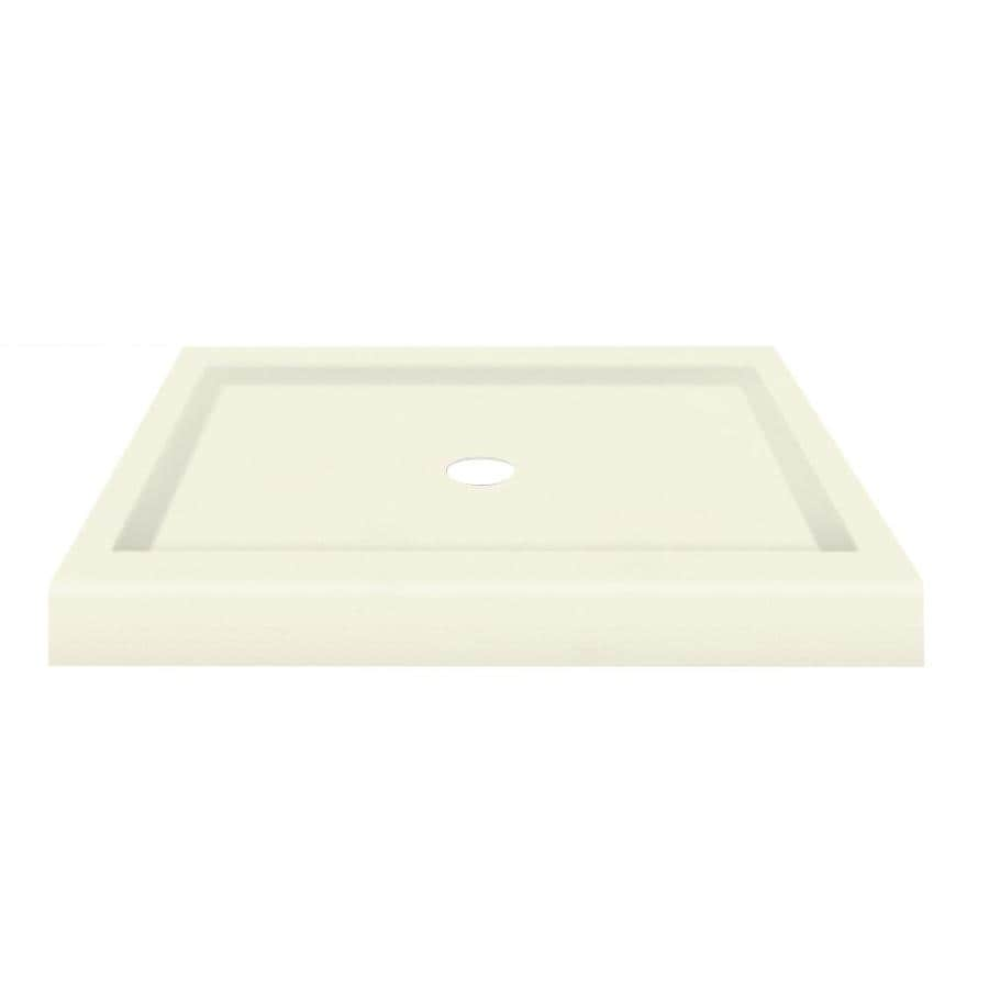 Transolid Decor Biscuit Solid Surface Shower Base (Common: 36-in W x 36-in L; Actual: 36-in W x 36-in L)