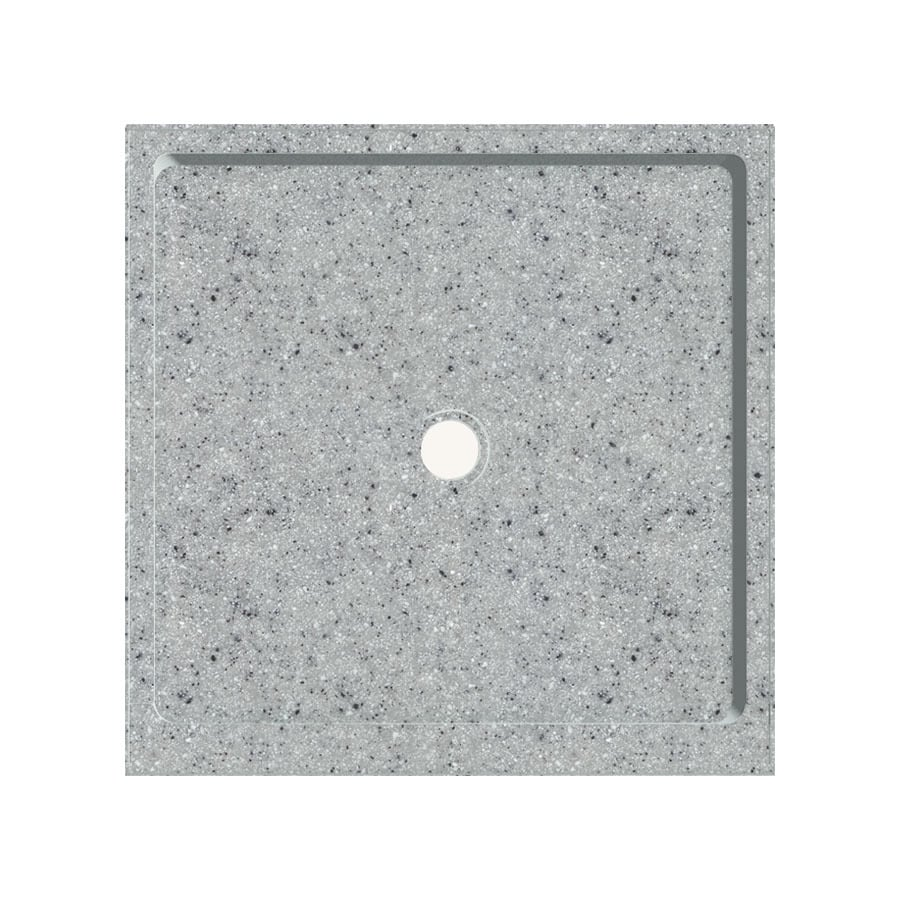 Transolid Matrix Dusk Fiberglass And Plastic Composite Shower Base (Common:  36 In W
