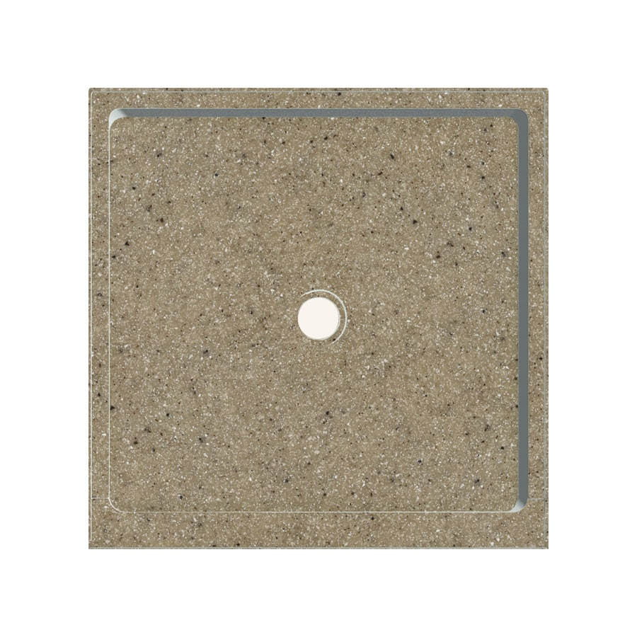 Transolid Matrix Sand Fiberglass and Plastic Composite Shower Base (Common: 36-in W x 36-in L; Actual: 36-in W x 36-in L)