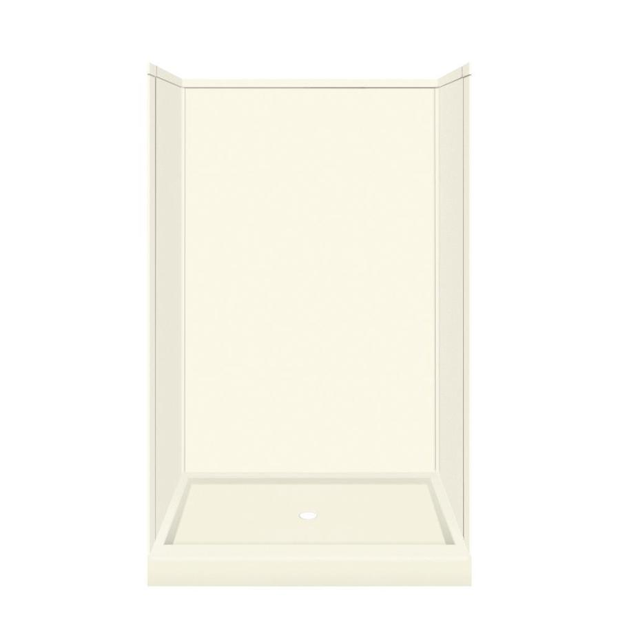 Transolid Decor Biscuit Shower Wall Surround Side And Back Wall Kit (Common: 32-in x 48-in; Actual: 72-in x 32-in x 48-in)