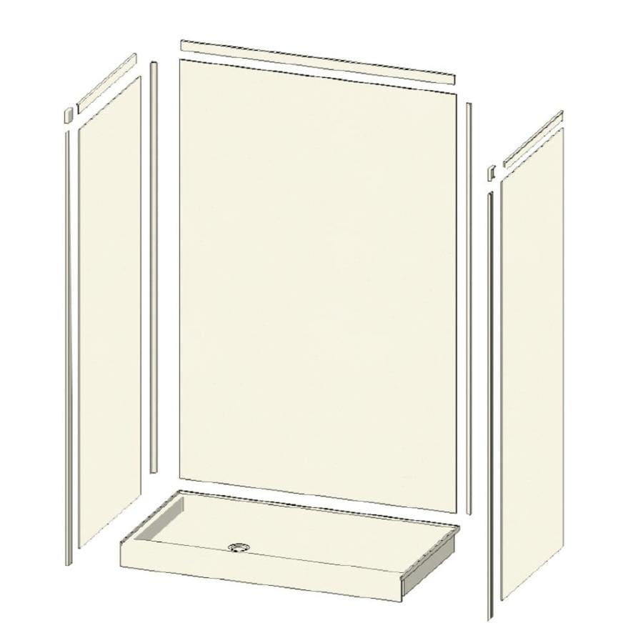 Transolid Decor Decor Matrix White 5-Piece Alcove Shower Kit (Common: 32-in x 48-in; Actual: 32-in x 48-in)